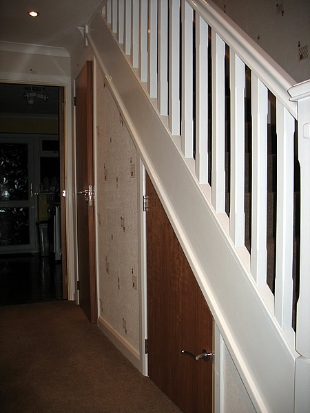 Bottom of stairs after